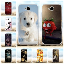 For Huawei Y6 Pro Cover Soft TPU Silicone Honor Play 5X Case Cute Patterned Enjoy 5 Holly 2 Plus Funda Bag