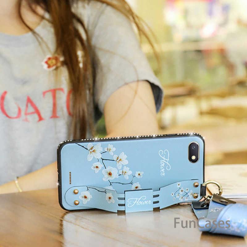 Алмазный ретро браслет чехол для телефона для Xiao mi Red mi 6a 6 Pro Note 4 4x mi A1 A2 Max 2 8 Lite Play тканевый мягкий + ТПУ ремешок чехол