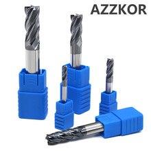 AZZKOR cortador de fresado con recubrimiento de aleación, herramienta de acero de tungsteno, herramientas de torno de fresado