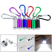 New 1W Mini Pocket LED Flashlight Telescopic Zoom Carry Carabiner Light Lamp Cycling Bicycle Accessories High Quality Mar 14