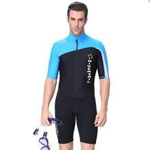 f46a526f8 Homens baratos 1.5mm neoprene shorty wetsuit triathlon maiô Plus Size de  natação dos homens swimwear