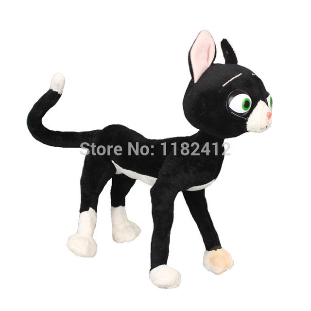 Bolt Mittens Black Cat Plush Toy Cute Stuffed Animals 48cm Kids Toys