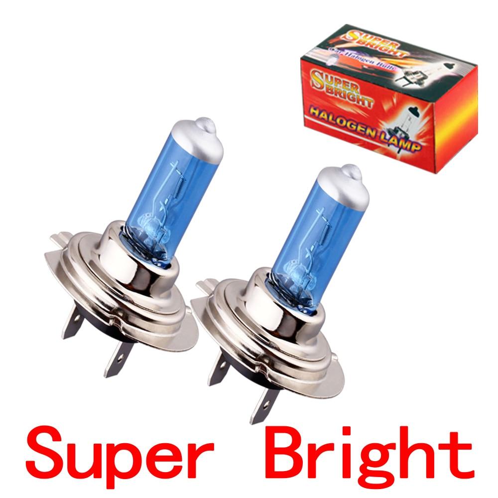 Bombilla halógena antiniebla blanca superbrillante H7, luz delantera de coche, 55W, V2, estacionamiento, u20, 2 uds.
