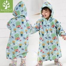 Фотография Age 2~7 baby Kids Hooded Jacket children Girl boy Rain coat Poncho Raincoat Cover Long cartoon Tour Rainwear