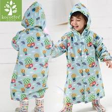 2~6 years old baby Kids Hooded Jacket children Girl boy Rain coat Poncho Raincoat Cover cartoon Balloon Print Tour Rainwear