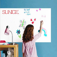 80cmx300cm Dry Erase WHITEBOARD WHITE BOARD STICKY SELF ADHESIVE VINYL FILM Single Side