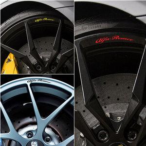 4pcs for Alfa Romeo Giulietta Alloy Wheels rims, Decal stickers MiTo Giulietta Giulia 147 156