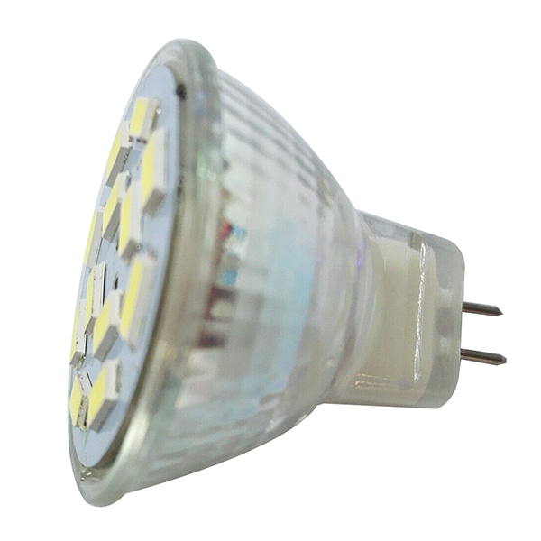 DSHA Hot Sale 6W GU4(MR11) LED Spotlight MR11 12 SMD 5730 570 lm DC 12V, White