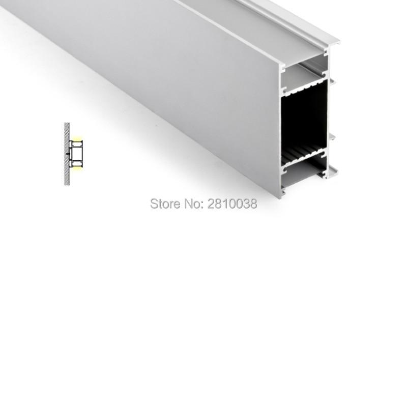 цена на 100 X 2M Wall washer led strip light aluminum profile large size H shape aluminium led housing extrusions for wall up lights
