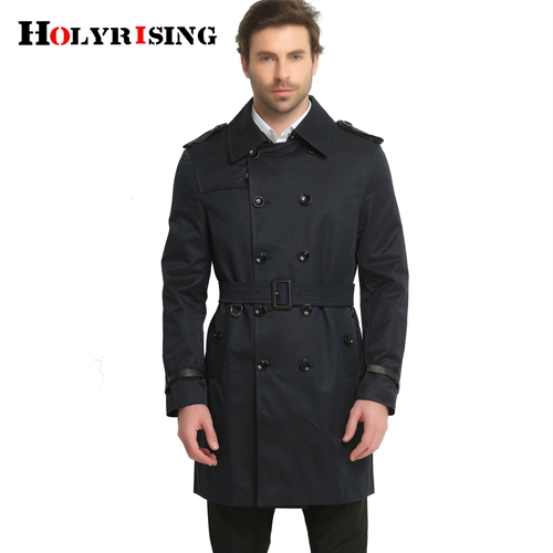 Spring Trench Coat Men...