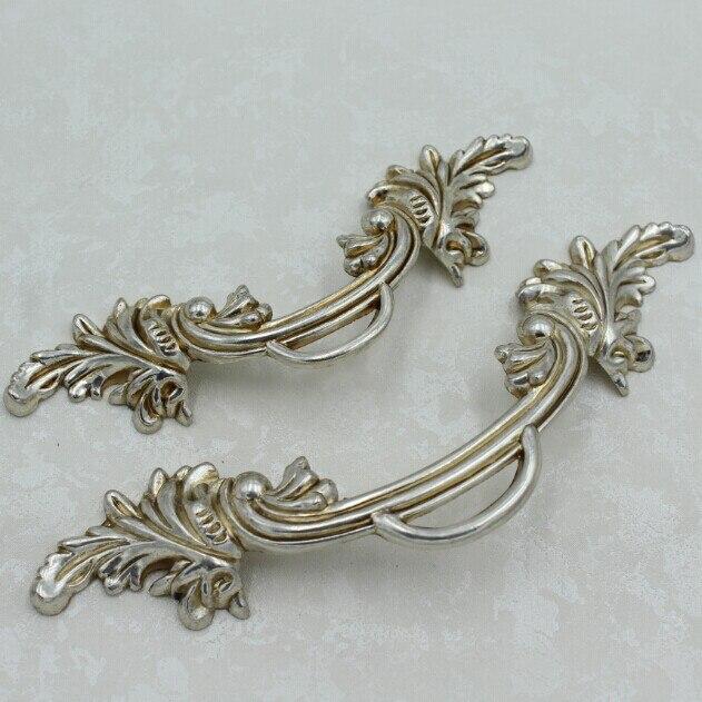 96mm antique silver zinc alloy drawer shoe cabinet bedside table dresser wardrobe furniture door handles pulls knobs 314