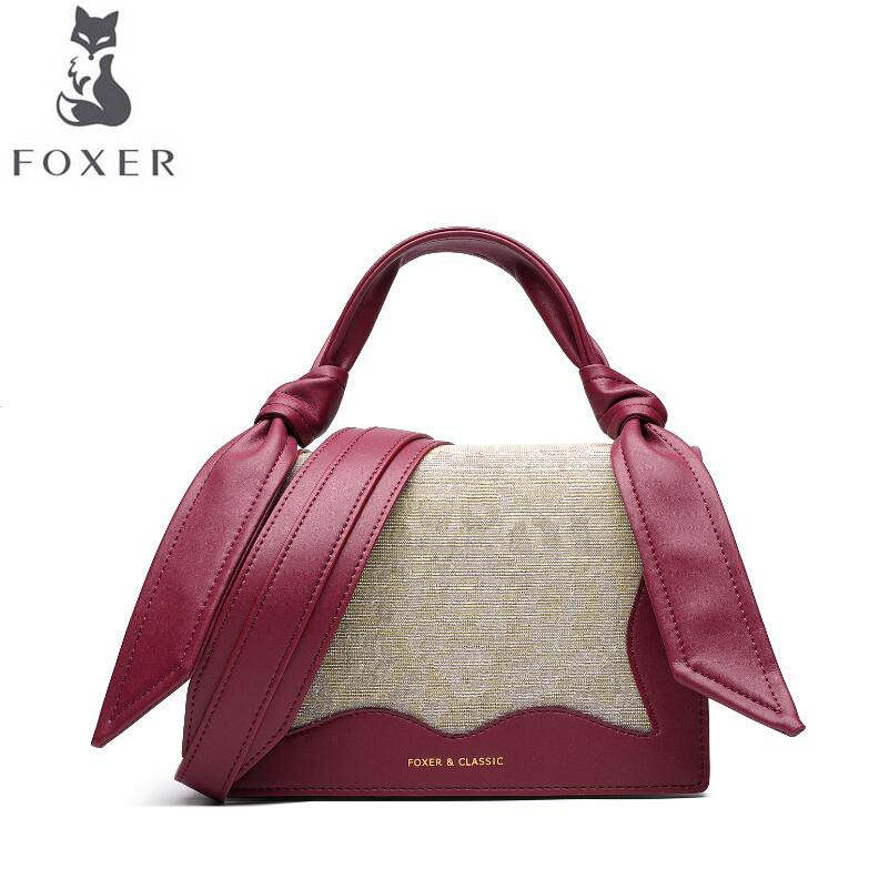 FOXER luxury fashion small bag female 2019 new ear bag leopard twist knotted wave ladies shoulder Messenger bagFOXER luxury fashion small bag female 2019 new ear bag leopard twist knotted wave ladies shoulder Messenger bag