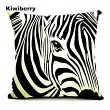 Cushion Cover Animals Stripe Horse Printed Cotton Linen Valentine Pillow Covers Pillowcase For Cojin Sofa Home Decor Jojo Siwa недорого