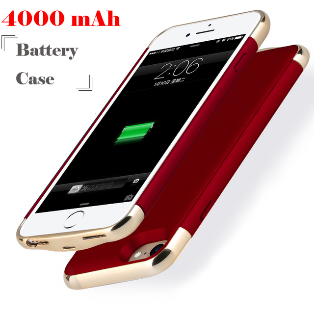 6113d1c98 4000 mAh Plating Charger Case For iPhone 8 Plus 7 Plus Battery Cover For  iPhone 6s Plus Smart Power Capa Funda For iPhone 6 Plus