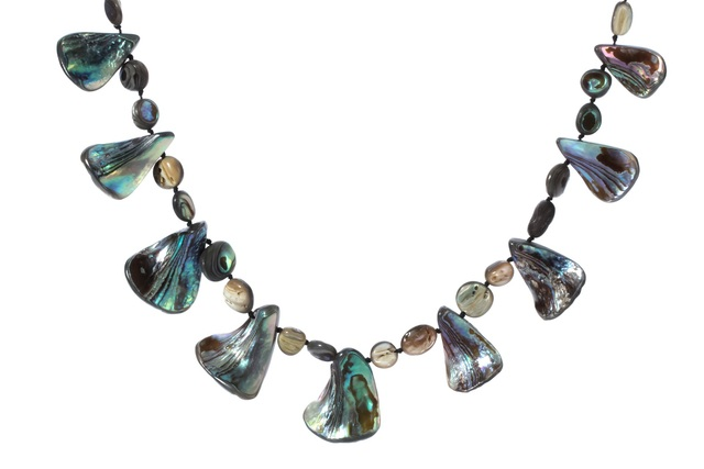 Natural Abalone Shell Necklace Choker Fashion Jewelry Adjustable Birthday Gifts For Women Mom Her Wife Girlfriend I007 Dropship