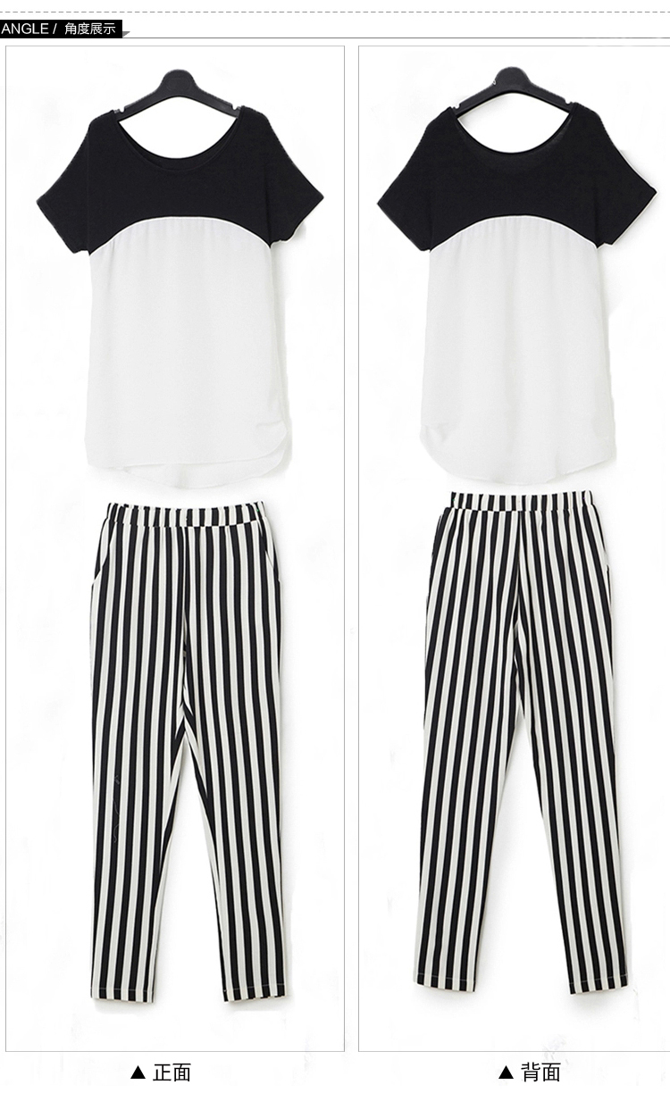 HTB1kZh9QXXXXXcXaXXXq6xXFXXXV - Black White Striped Pencil Trousers Elegant Ladies Pants PTC 182