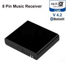 8 Pin Bluetooth 4.2 Aptx Adaptador Receptor de Música Estéreo Sem Fio De Áudio de Baixa Latência para BOSE SoundDock III 8Pin orador Iluminação