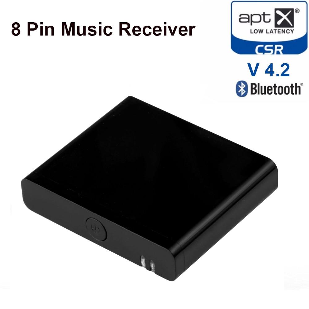 Funkadapter 8 Pin Bluetooth 4,2 Aptx Niedrigen Latenz Musik Empfänger Wireless Stereo Audio Adapter Für Bose Sounddock Iii 8pin Blitz Lautsprecher Tragbares Audio & Video
