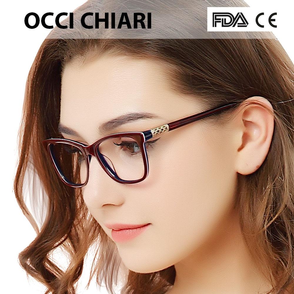 OCCI CHIARI Women Vintage Anti-blue Light Photochromic Progressive Eyeglasses Hyperopia Myopia Optical Prescription Glasses