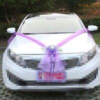 Wedding Car Decoration Artificial Flowers Fake Stamen Leaves Silk Flower Sets Pompoms Decoration Marriage Supplies Accessories