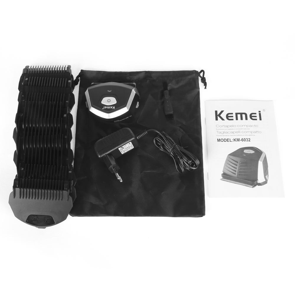 KEMEI Professional Electric Shaver Hair Clipper Haircut Beard Trimmer with 9 Trimming Combs Hair Cutting Machine For Men Baby 4