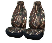 2pc front car Seat Covers Universal Automotive Camo Tactics front cover for Jeep SUV Pickup Offroad Medium large car styling