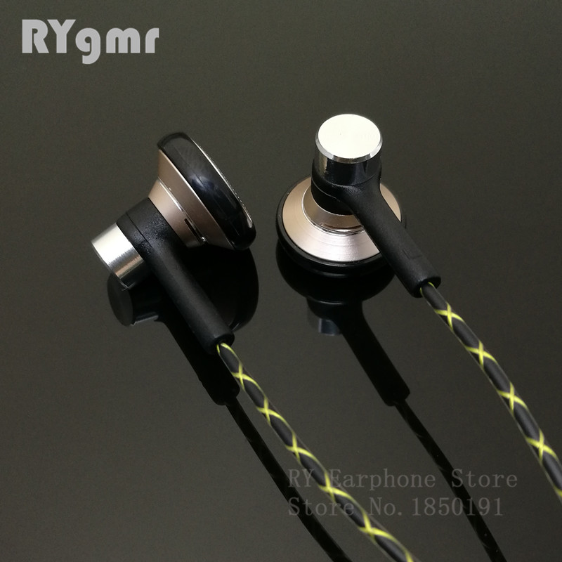 RY04 asli in-ear Earphone logam 15mm kualitas musik suara HIFI Earphone (kabel gaya IE800) 3.5mm stereo earbud headphone