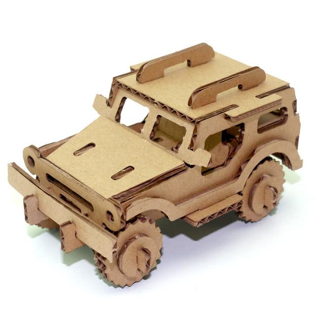 Jeep Car 3d Paper Puzzle Creative Decorative Paper Craft Fun Kid