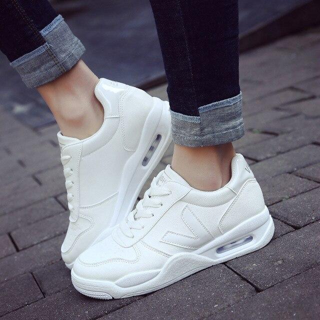 2311608903e8 € 17.2 12% de DESCUENTO|2017 Nuevo primavera Blanco clásico deportes  zapatos de mujer zapatos para correr al aire libre confort zapatillas ...