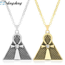 dongsheng Anime Jewelry Yugioh Egypt Pyramid Yu-gi-oh Pendant Necklaces for Men Women Triangle Egyptian Ankh Cross Necklace-30(China)