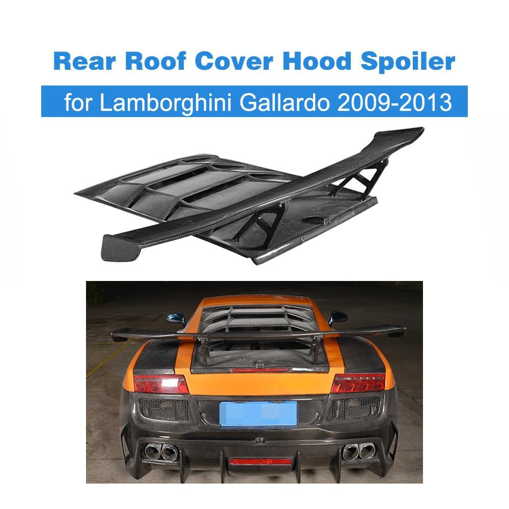 Exterior Parts Spoilers & Wings Carbon Fiber Rear Roof Cover Hood Spoiler Lip Wing Case For Lamborghini Gallardo Coupe Convertible Lp550 09-13 Frp Unpainted