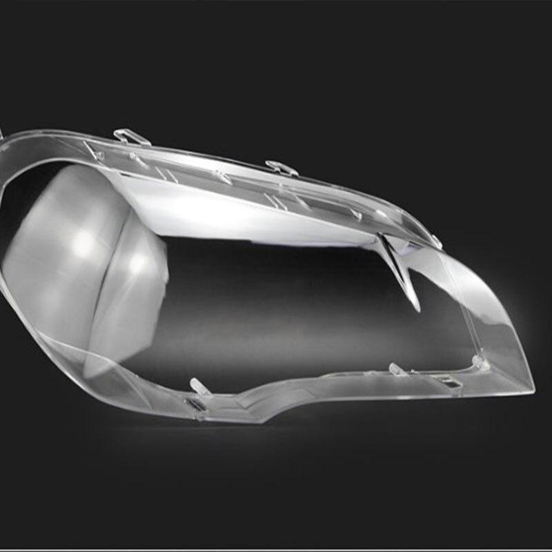 Para BMW x5 Lente Máscara de Lâmpada de Frente Do Farol Lente Sombra Tampa Da Lente Tampa De Vidro Luz E70 E71 2008-2013 farol lente capô