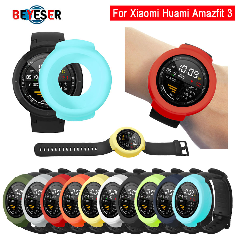 NEW Protective Cover For Amazfit Verge Watch 3 Protector Cases For Xiaomi Huami Amazfit 3 Verge Accessories Soft Silicone Case