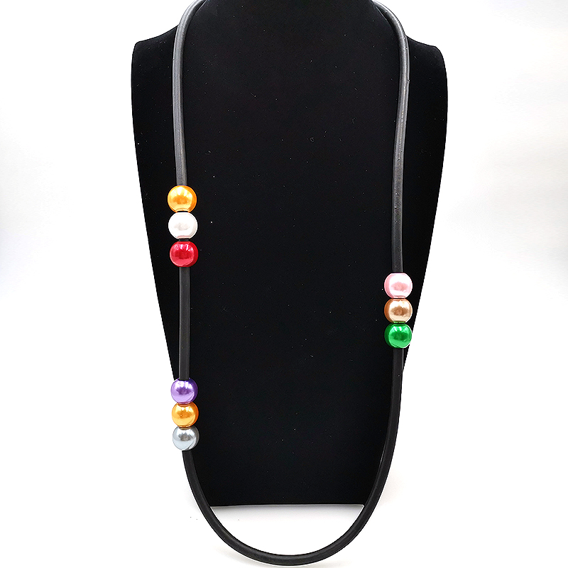 YD amp YDBZ New Colored Pearl Necklace Women 39 s Fashion Pendant Necklaces Jewelry Trendy Wedding Accessories Black Rope Collar Choker in Torques from Jewelry amp Accessories