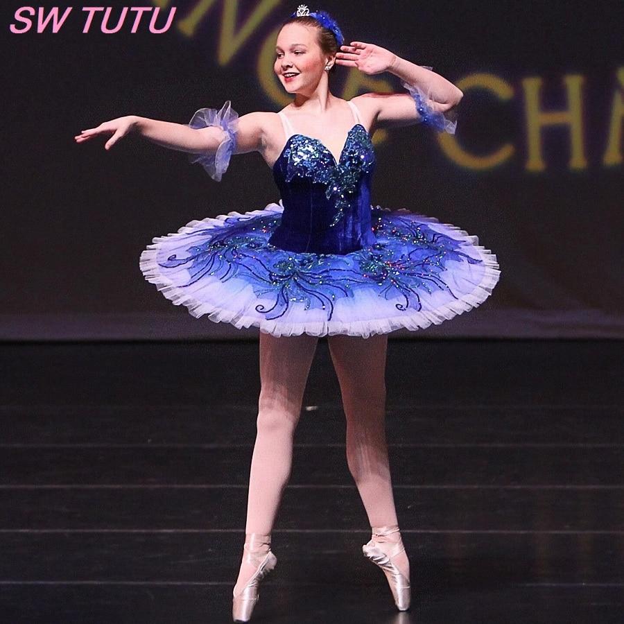 Adult Sapphire Blue Ballet Tutu Pink