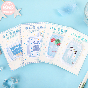 Mr Paper 30pcs/lot 24 Designs Japanese Style Drink Juice Memo Pads Sticky Note Notepad Diary Creative Self-Stick Notes Memo Pads
