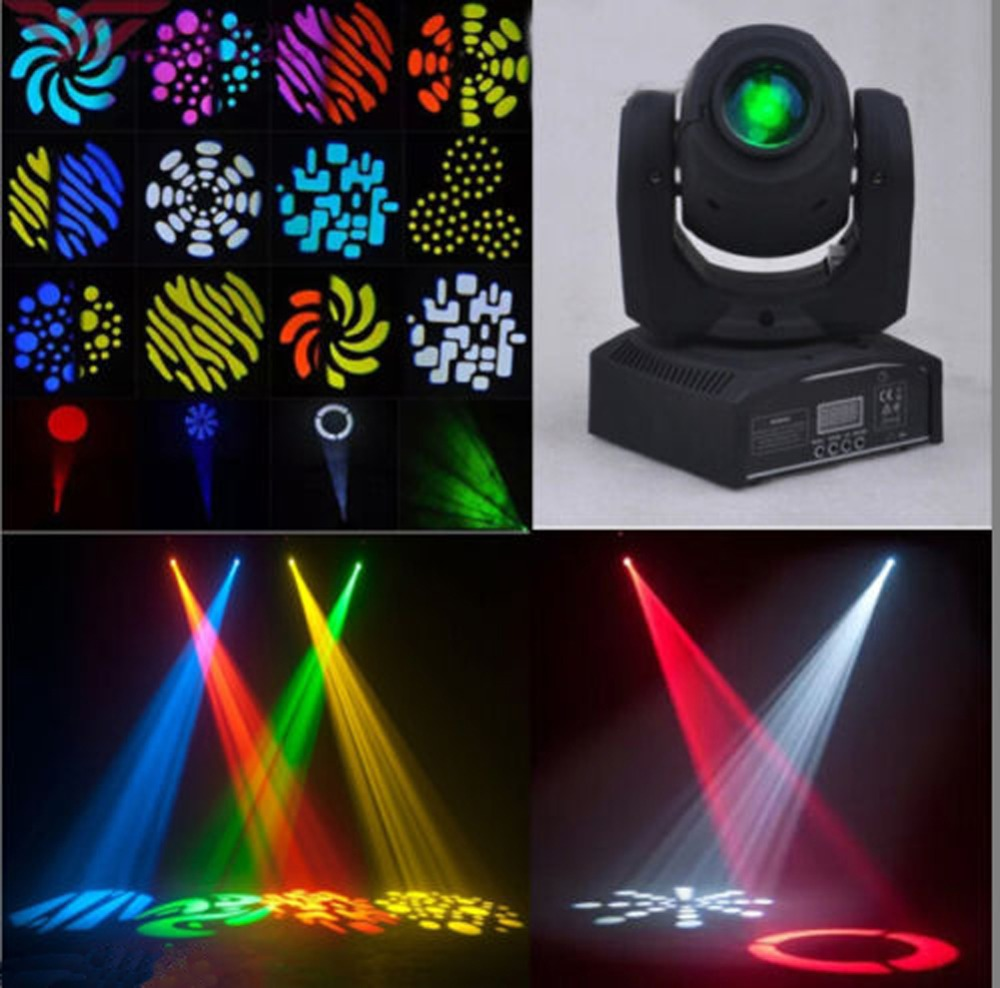 wedding gobo light 60w led moving head light rgbw christmas lights gobo led projector moving christmas light in stage lighting effect from lights lighting - Moving Christmas Lights