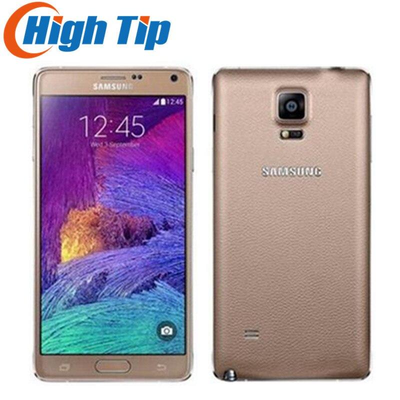 Note4 Original débloqué Samsung Galaxy Note 4 N910A N910F N910P LTE Smartphone 5.7 pouces 16MP 3 GB 32 GB téléphone portable reconditionné