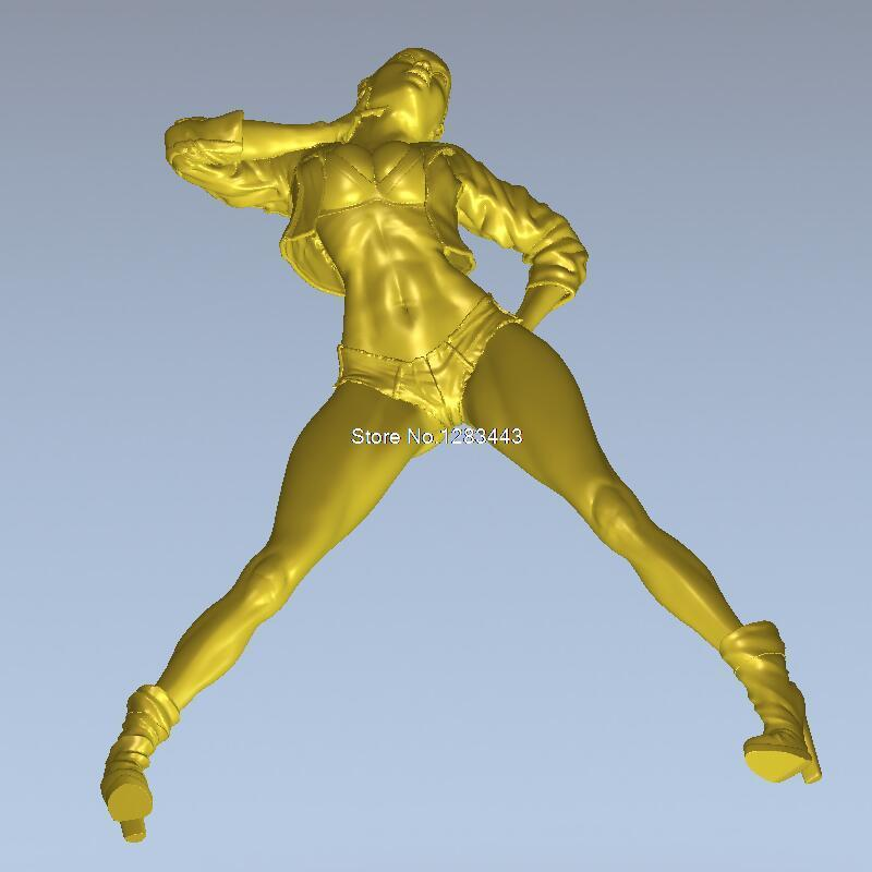 High Quality New 3D Model For Cnc 3D Carved Figure Sculpture Machine In STL File Long-legged Beauties