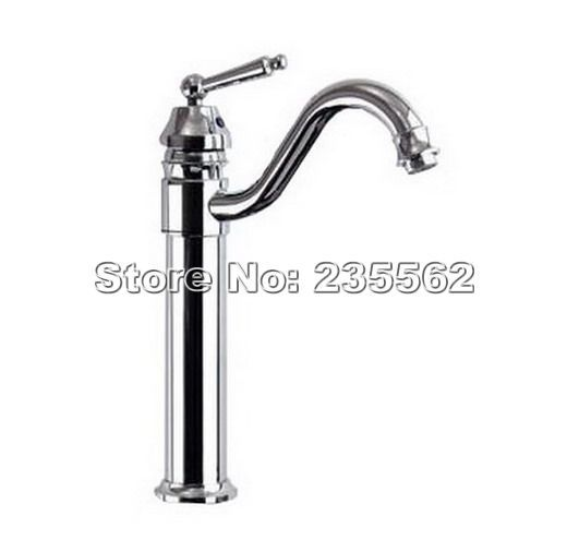 New Single Handle Gooseneck Chrome Kitchen Swivel Bathroom Basin Sink Faucet Mixer Tap Cnf210 new sink mixer tap chrome bathroom wahs basin sink faucet single handle high quality tree820