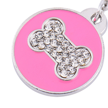 1 PCS Dog Bone Style Dog Name Dog Necklace Tag Pets Identity Card For Pets Fashion Key Chain 2 Colors