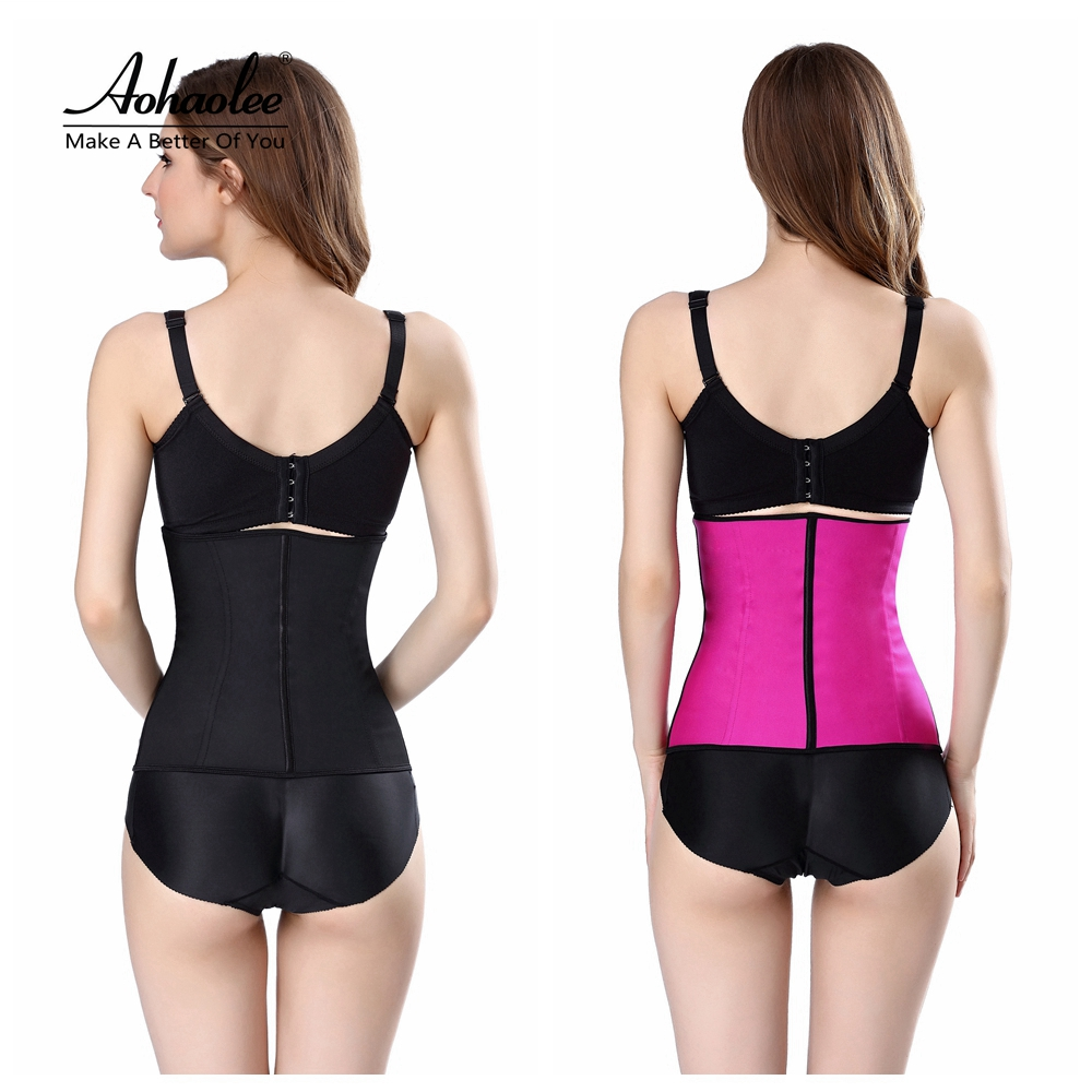 c6298e2774 Aohaolee Latex Waist Trainer Corsets Hot Shapers Tummy Control Belts Latex Waist  Cincher Women Girdles Fajas ...