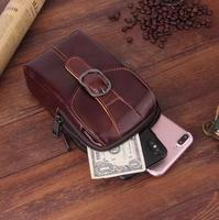 Belt Clip Man Genuine Cow Leather Mobile Phone Case Pouch For Galaxy J2 J5 J7 Prime