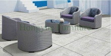 Outdoor wicker single sofas set for patio garden rattan single sofa furniture