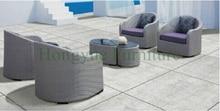 Outdoor wicker single sofas set for patio garden rattan single sofa furniture