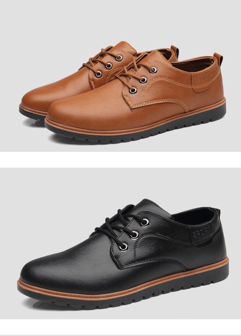 2018 Men Fashion Men Leather ShoesMen s Dress Brogue Shoe Classic Footwear Business Party Office Weddi