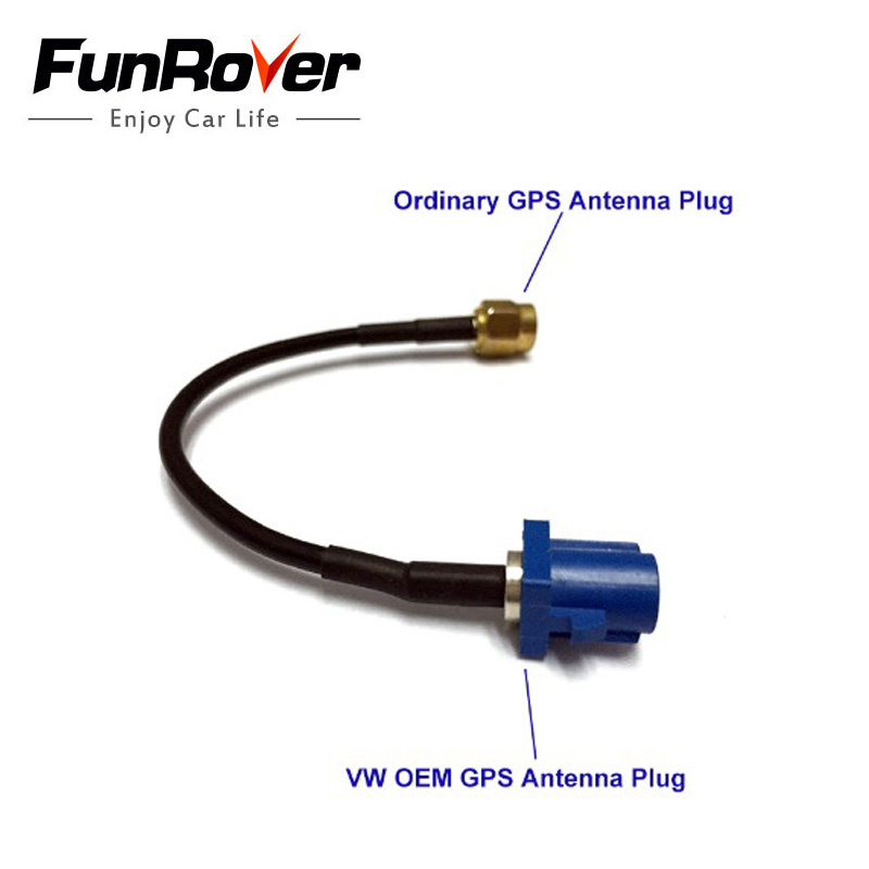 Funrover <font><b>GPS</b></font> antenna <font><b>Fakra</b></font> <font><b>Adapter</b></font> Shark Buchse forVW Seat Benz f-ford Free Shipping hot selling car dvd <font><b>gps</b></font> antenna adpter image