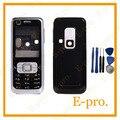 Новый Полный Мобильный Телефон Случая крышки Снабжения Жилищем Для Nokia 6120c 6120 Classic Корпус + Английский Клавиатуры + Инструменты Бесплатно Отслеживания Нет.