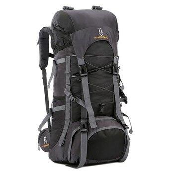 60l 높은 품질 야외 캠핑 배낭 방수 여행 하이킹 가방 관광 여성 남성 트레킹 등산 배낭