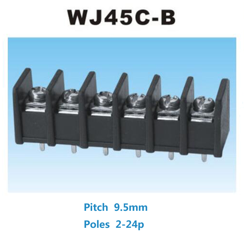 2/5pcs Barrier Screw Terminal Block pitch 9 5mm Straight Pin 2P 3P 4P 5P 6P  bornier blocks connector morsettiera 300V 25A 12AWG